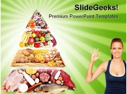 food pyramid health powerpoint templates and powerpoint
