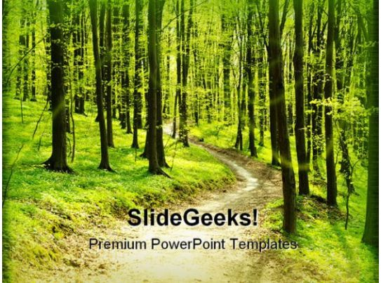 forest pathway geographical powerpoint templates and