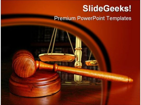 Gavel Law PowerPoint Background And Template 1210 ...