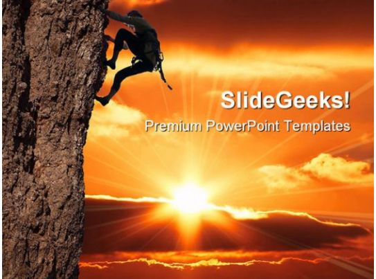 girl climbing success powerpoint templates and powerpoint