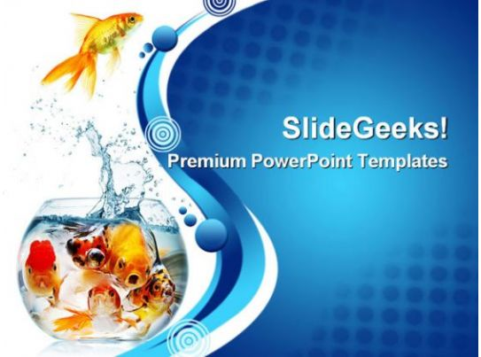 Gold Fish Animals Powerpoint Templates And Powerpoint