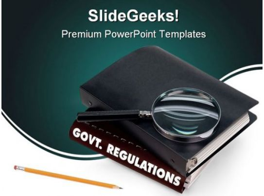 government regulations education powerpoint backgrounds and