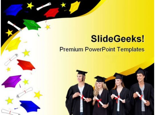 Graduation Abstract Law Powerpoint Backgrounds And