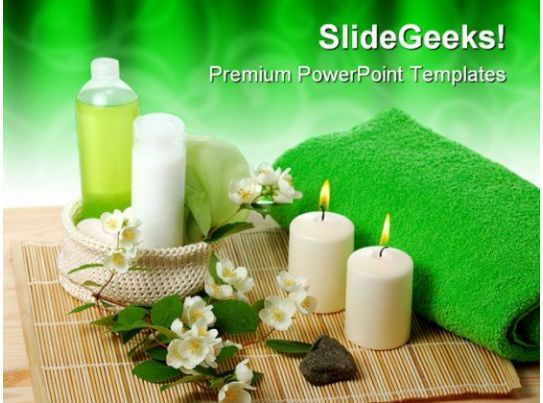 Green Spa Beauty PowerPoint Templates And PowerPoint ...