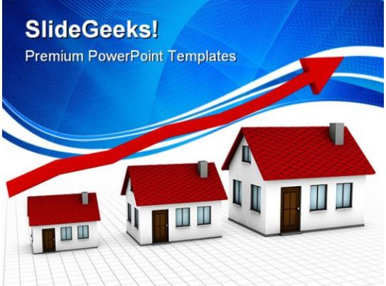 growing housing market real estate powerpoint templates
