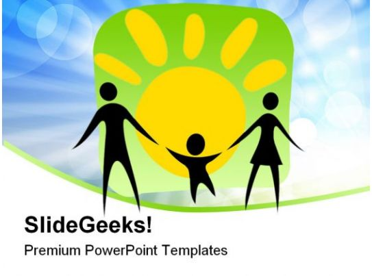 happy parents and child family powerpoint templates and powerpoint, Powerpoint