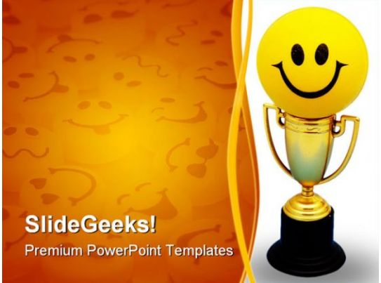 Happy trophy sports powerpoint template 0910 presentation happy trophy sports powerpoint template 0910 presentation powerpoint templates ppt slide templates presentation slides design idea toneelgroepblik Images
