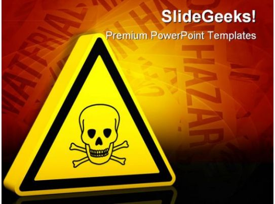 hazardous poison sign industrial powerpoint templates and