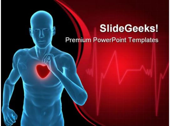 cardiovascular powerpoint template free - healthy heart concept medical powerpoint templates and