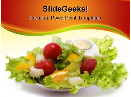 healthy salad food powerpoint template 1110 presentation