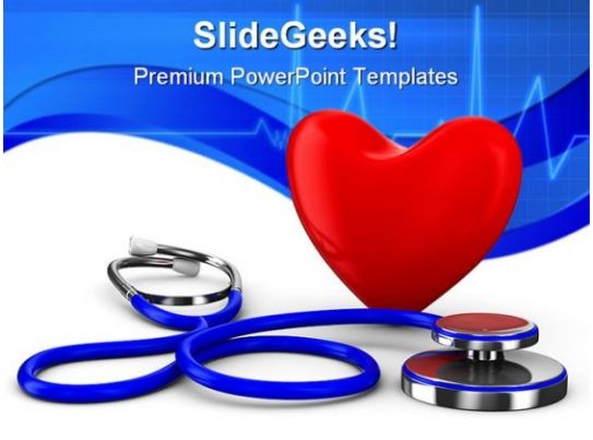 heart stethoscope medical powerpoint templates and