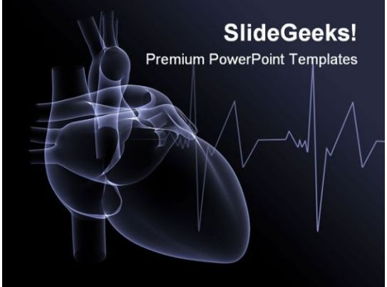 heart x ray medical powerpoint template   powerpoint, Powerpoint
