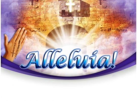 Heaven Alleluia Religion Powerpoint Templates And Powerpoint Backgrounds 0211 Powerpoint Slide