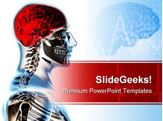 Skeleton Science Powerpoint Template   Templates Powerpoint