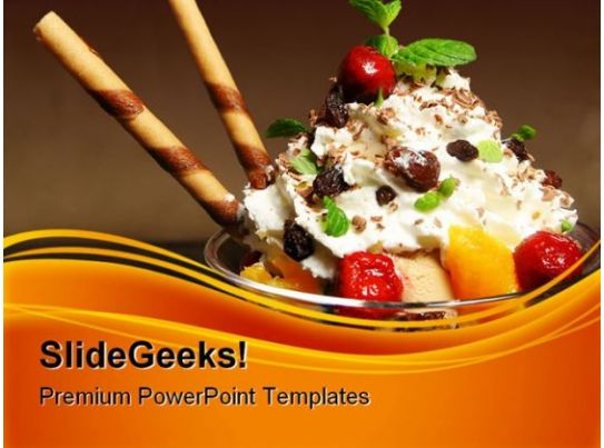 ice cream food powerpoint templates and powerpoint