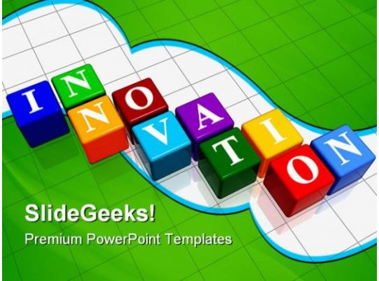 innovation cubes business powerpoint templates and powerpoint