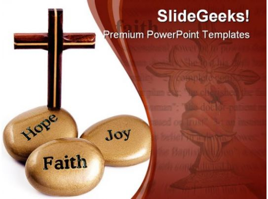 Inspirational Stones Religion PowerPoint Template 0910 | Templates ...