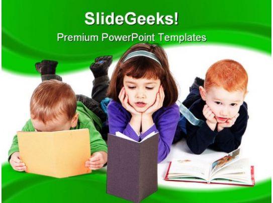Free powerpoint templates children reading