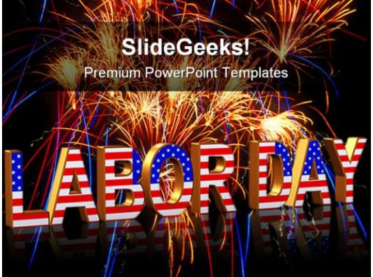 Labor Day Americana Powerpoint Templates And Powerpoint