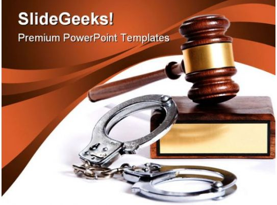 law and order security powerpoint template 1110 graphics
