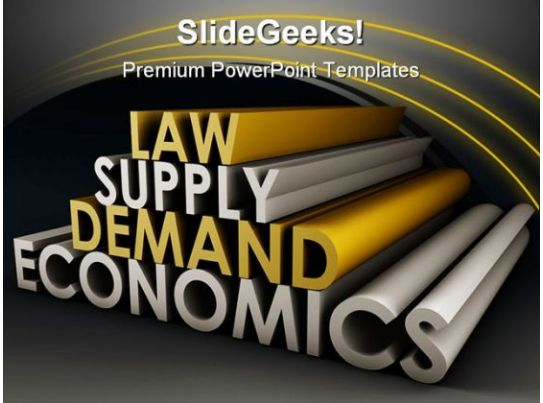 Law Supply Demand Economics Business Powerpoint Background And