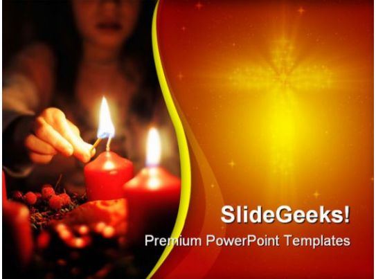 Light A Candle Beauty Powerpoint Templates And Powerpoint