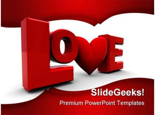 love wedding powerpoint template 0610 powerpoint presentation