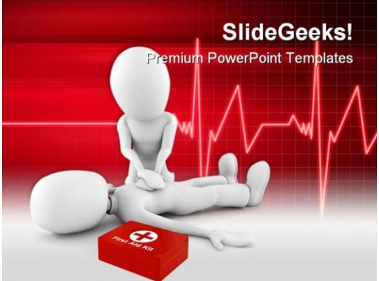man providing first aid medical powerpoint templates and