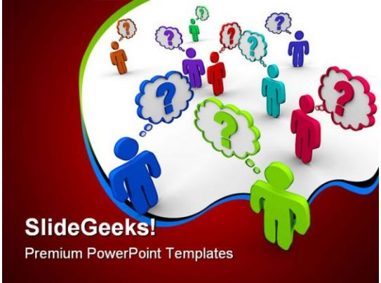 many people thinking communication powerpoint templates and