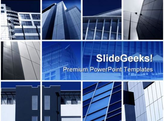 modern architecture montage business powerpoint