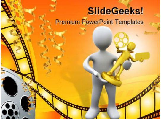 movie award winner success powerpoint templates and