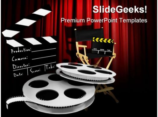 Movies Director Entertainment Powerpoint Templates And
