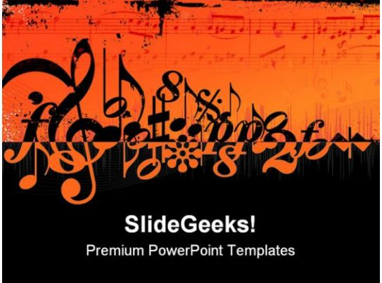 music symbols powerpoint template 0910 powerpoint slides diagrams