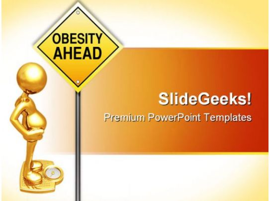 Obesity road sign metaphor powerpoint templates and for Childhood obesity powerpoint templates