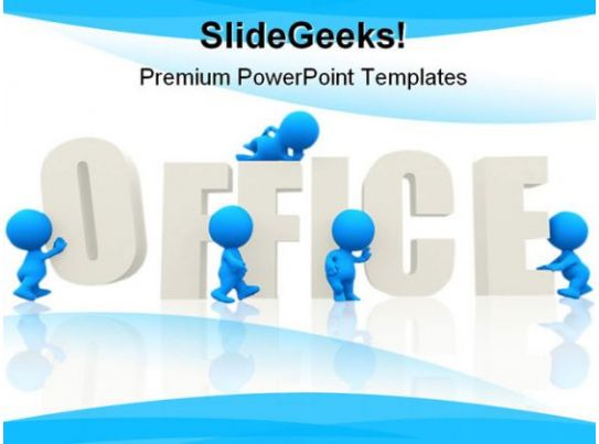 office people business powerpoint background and template