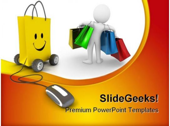 Online shopping mouse powerpoint templates and powerpoint for Online product catalog template