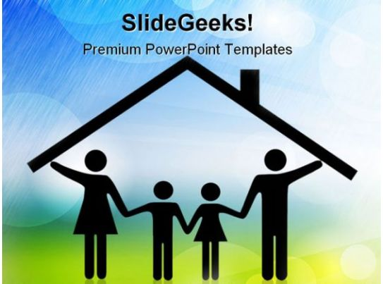parents and children family powerpoint templates and