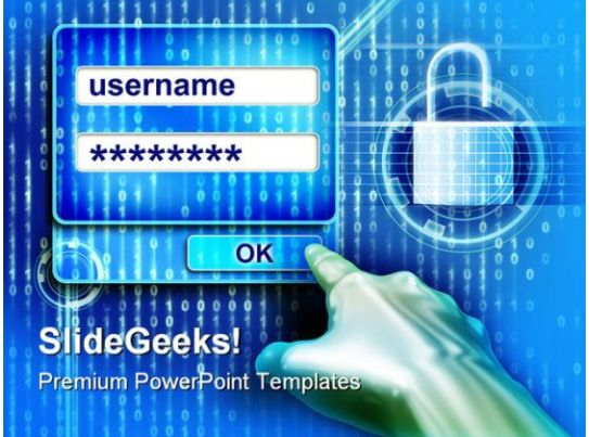 password protection internet security powerpoint