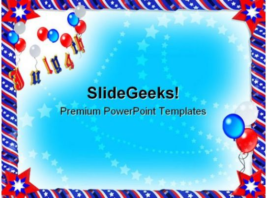 Patriotic Ribbons Americana Powerpoint Template 1110 Templates