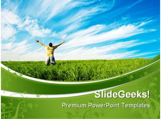person enjoying freedom nature powerpoint templates and