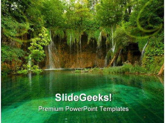 Pond Beauty Nature Powerpoint Template 1110 | Powerpoint