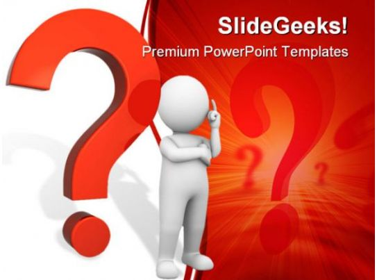 Questions mark people powerpoint template 0910 3d for Powerpoint questions and answers template