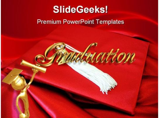 Red Graduation Cap Education PowerPoint Backgrounds And Templates ...