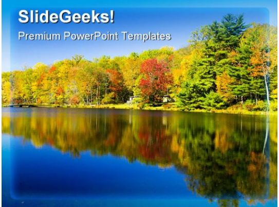 reflection of fall colors nature powerpoint background and