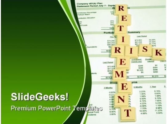 Retirement risk investment powerpoint template 0610 template retirement risk investment powerpoint template 0610 template presentation sample of ppt presentation presentation background images toneelgroepblik Images