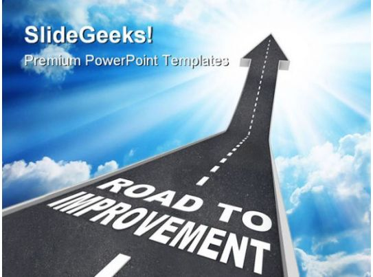road to improvement success powerpoint templates and