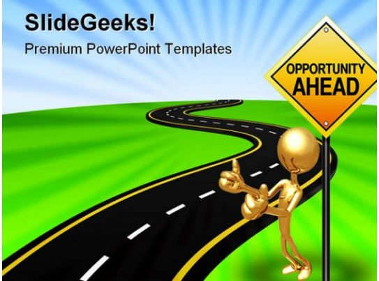 Road To Opportunity Business PowerPoint Template 0610 PowerPoint