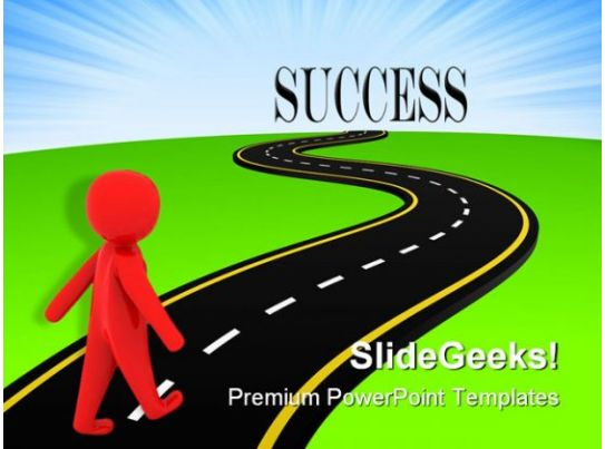 road to success metaphor powerpoint templates and