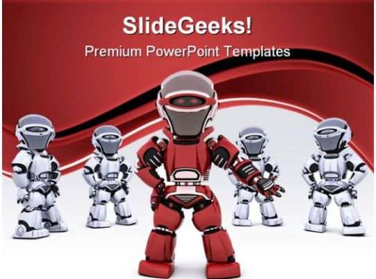 Robot Leading Team Leadership PowerPoint Templates And ...