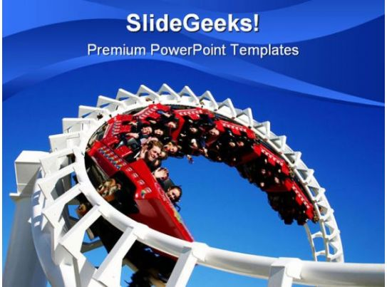 roller coaster people powerpoint template 0910